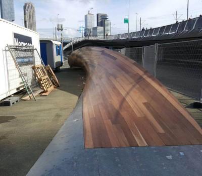 Prachtige skatebaan in Rotterdam behandeld met Frencken Randsealer